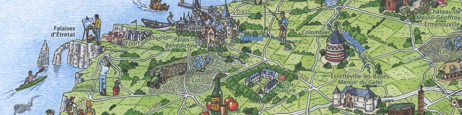 Карта департамента Сена Приморская