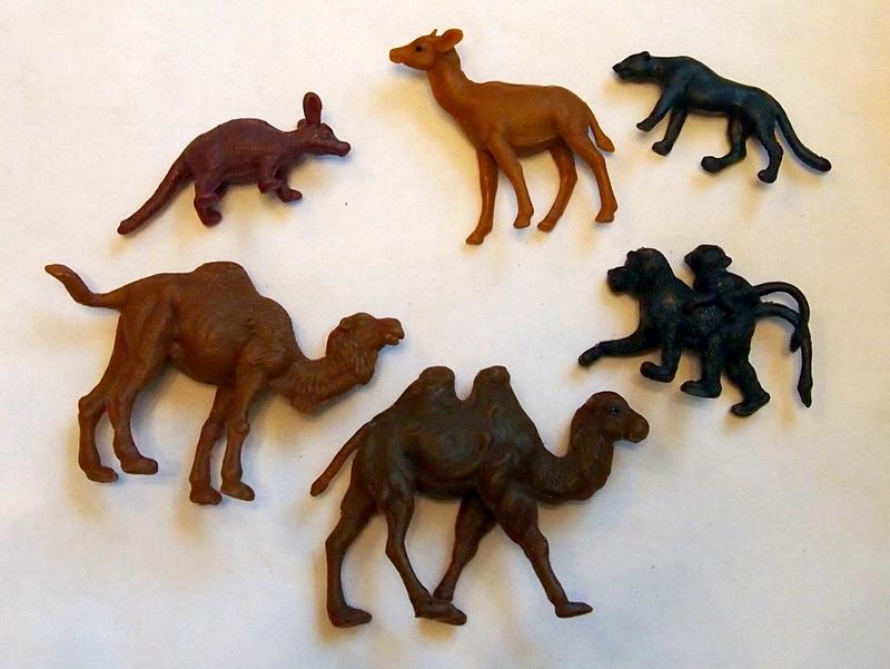 советские пластмассовые животные
