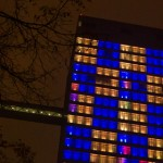 Пиксельное шоу на башне SkyLight — 16 лет Mail.Ru