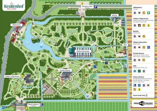 схема парка Кекенхоф
