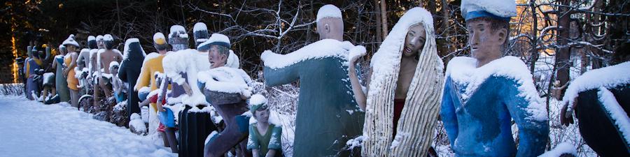 Парк скульптур Patsaspuisto зимой