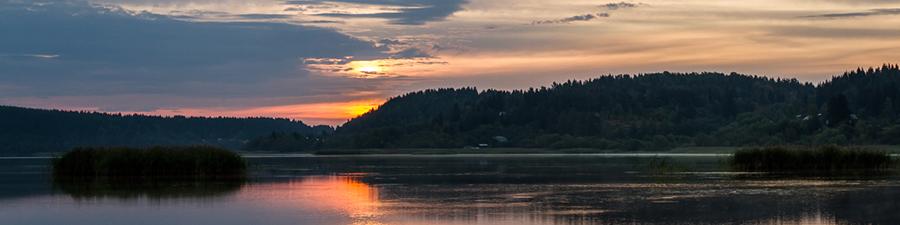 Сортавала, рассвет над Ладожским озером